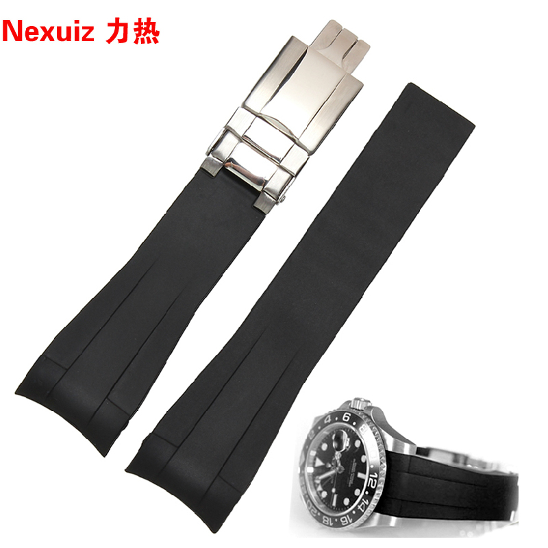 New watchbands Silicone Rubber Watchband Accessories Insurance folding buckle  deployment Sport Swimming waterproof straps 20mm alligator leather watchband brand style straps bracelets wristwatches accessories with free buckle deployment 20mm 21mm 22mm new