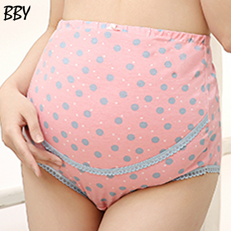 Delicate Hot! Plus size 1PC Pregnancy Maternity Clothes Printing Pregnant Women Underwear Panties R162