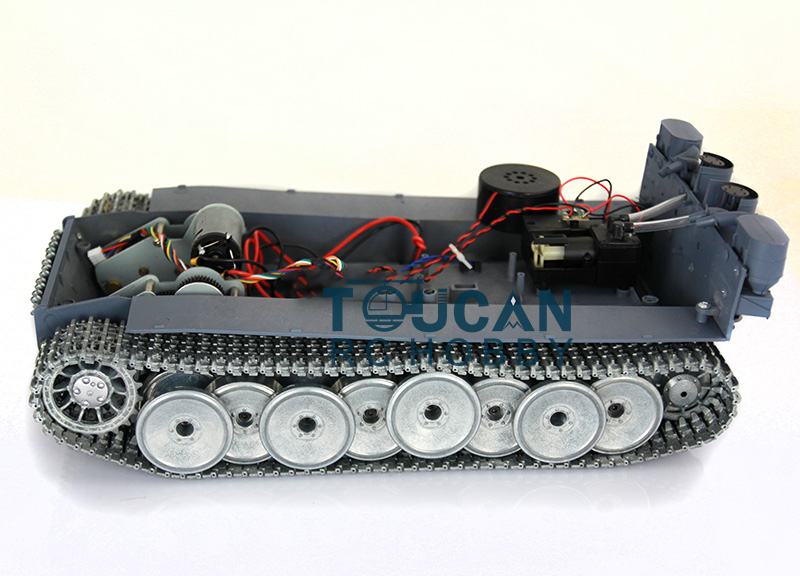 Refitted HengLong 1/16 RC Tiger I RC Tank Chassis W/ Metal Tracks Wheels Gearbox 3818 mato sherman tracks 1 16 1 16 t74 metal tracks