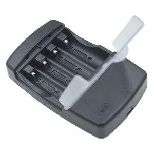 Image 4 - 4 слота смарт зарядное устройство USB Батарея Зарядное устройство для Перезаряжаемые батареи 1,2 V AA AAA AAAA никель металл гидридных и никель кадмиевых типов аккумуляторов 1,5 V щелочные батареи 3,2 V LiFePo4 14500 10440