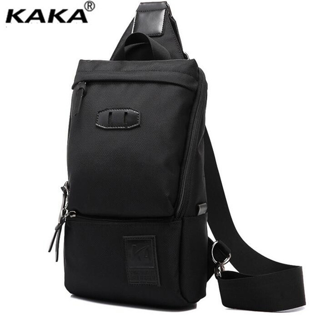 KAKA Korean Fashion Men Chest Bag Summer Casual Trend Men Crossbody Bag Much Interlayer Oxford Waist bag Breathable Handbag A047