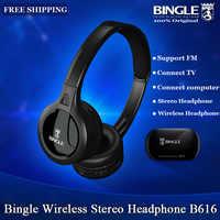 Casque Audio sans fil stéréo multifonction Bingle B616 avec Microphone Radio FM pour téléphones Audio TV MP3 PC