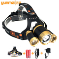 Led headlamp xm-l t6+xpe linternas led recargable 6000 lumenes head light led lamp lanterna de cabeca for peasca camping