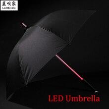 Umbrell звездные вспышка войны дождь ночь зонтик защиты прямые ручки взрослых