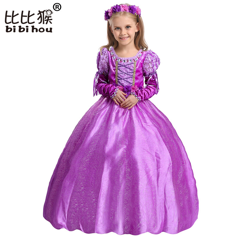 Luvas + Cinto Guirlanda Princesa Menina Trajes Crianças Frock Designs Vestidos de Meninas Traje Do Natal da Festa de Aniversário Cosplay