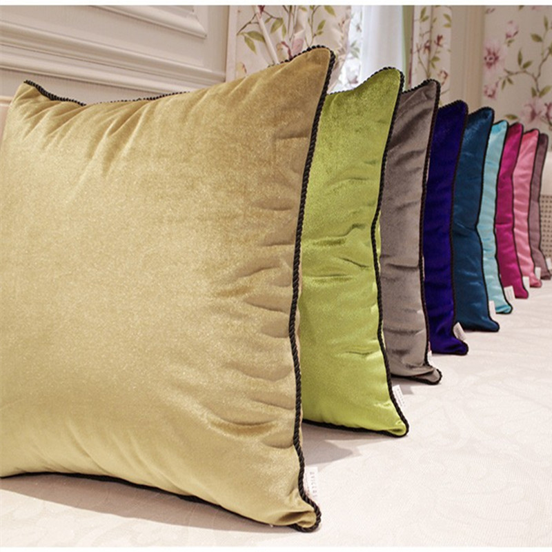 Luxurious velvet velour pillow cover decorative cushion for Luxury decorative throw pillows