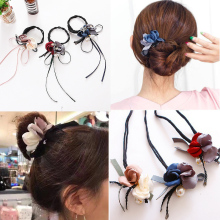 LNRRABC HOT  Hair Accessories Magic Bun Maker Girl Donut Device Messy Women Pearl Bands French DIY Hairstyle Headband Tools