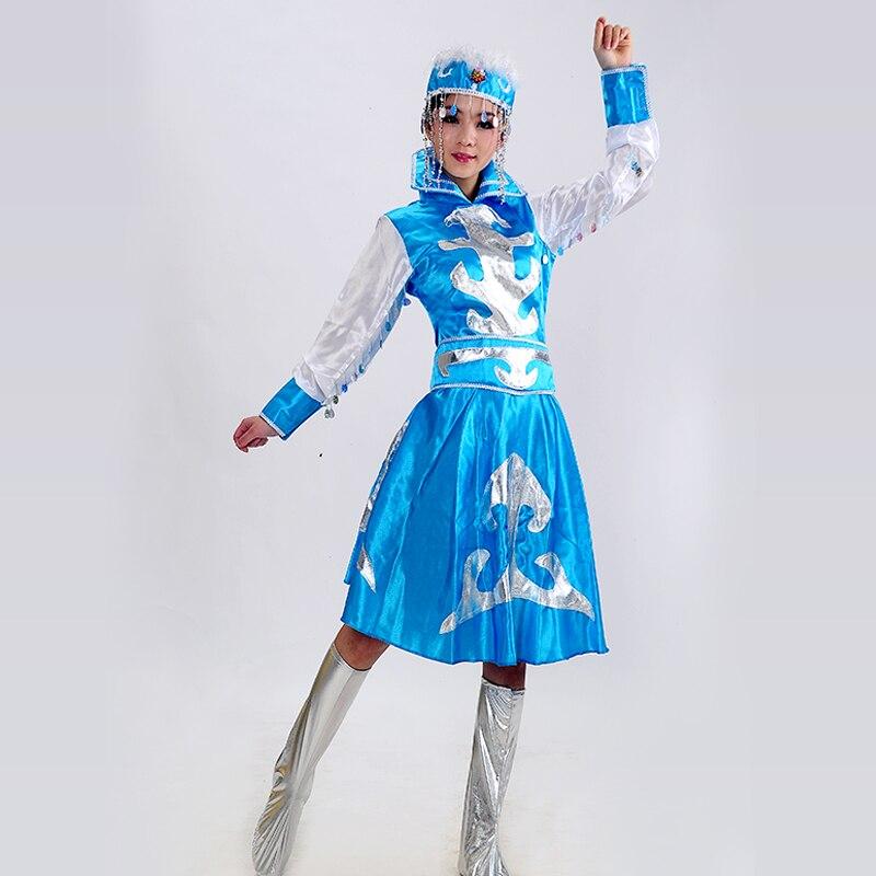 Costume de costume de danse ethnique des femmes / robe de spectacle de scène , s , blue