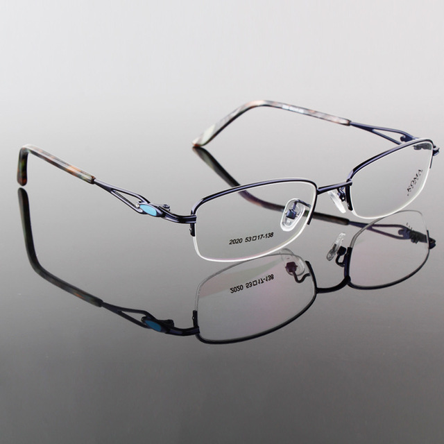 2015 Designer Vintage Titanium Eyeglasses Women Prescription Glasses Frames
