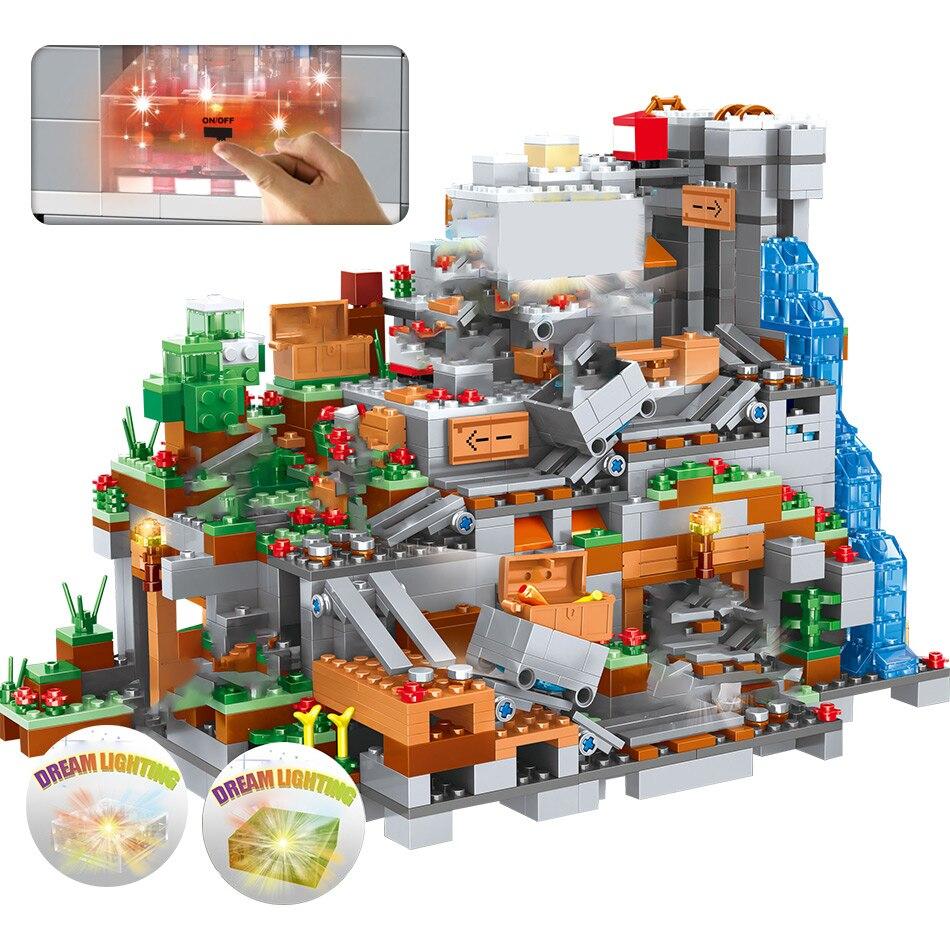 construção cachoeira tijolos conjuntos brinquedos para crianças presentes