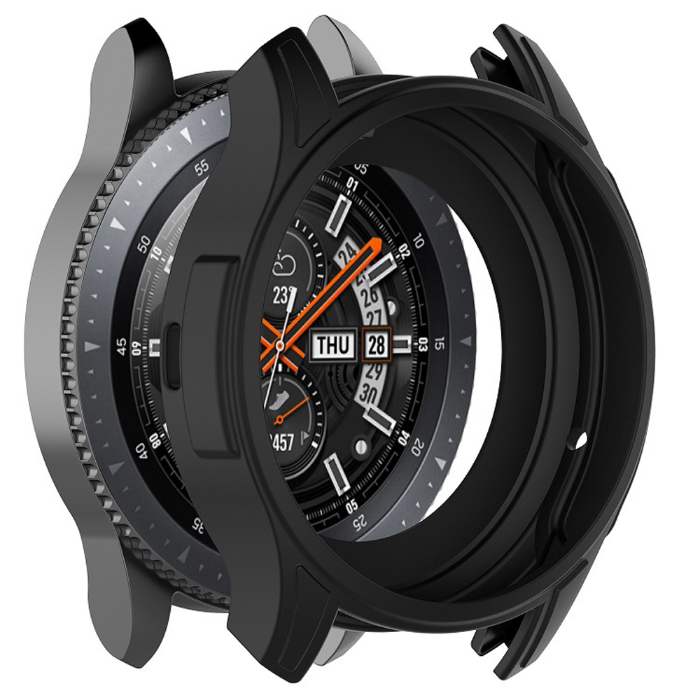 Solicone Case Cover For Samsung Galaxy Watch 42mm/46mm And Gear S3 Frontier Universal Case Soft Silicone Protective Shell Frame
