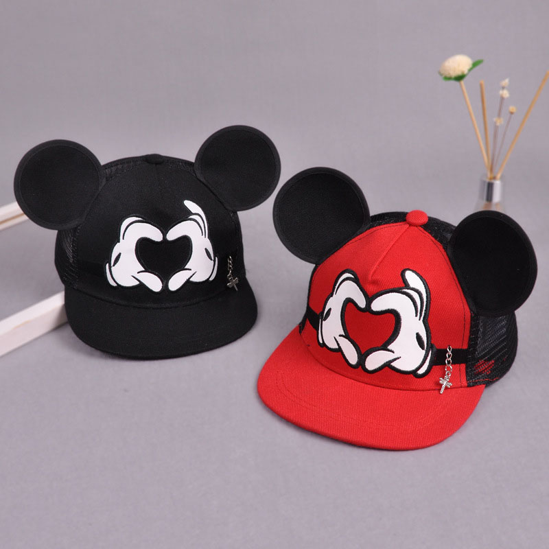 Summer Baby Kids Baseball Cap Cartoon Cute Big Ear