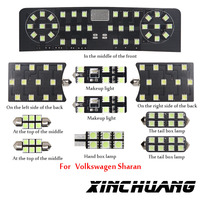 10pcs For Volkswagen sharan decoding special modified LED reading lights car styling Free shipping