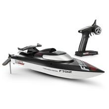 Feilun FT012 2,4G бесщеточный 45 км/ч высокая скорость RC гоночный катер с водяным охлаждением самоправильная система
