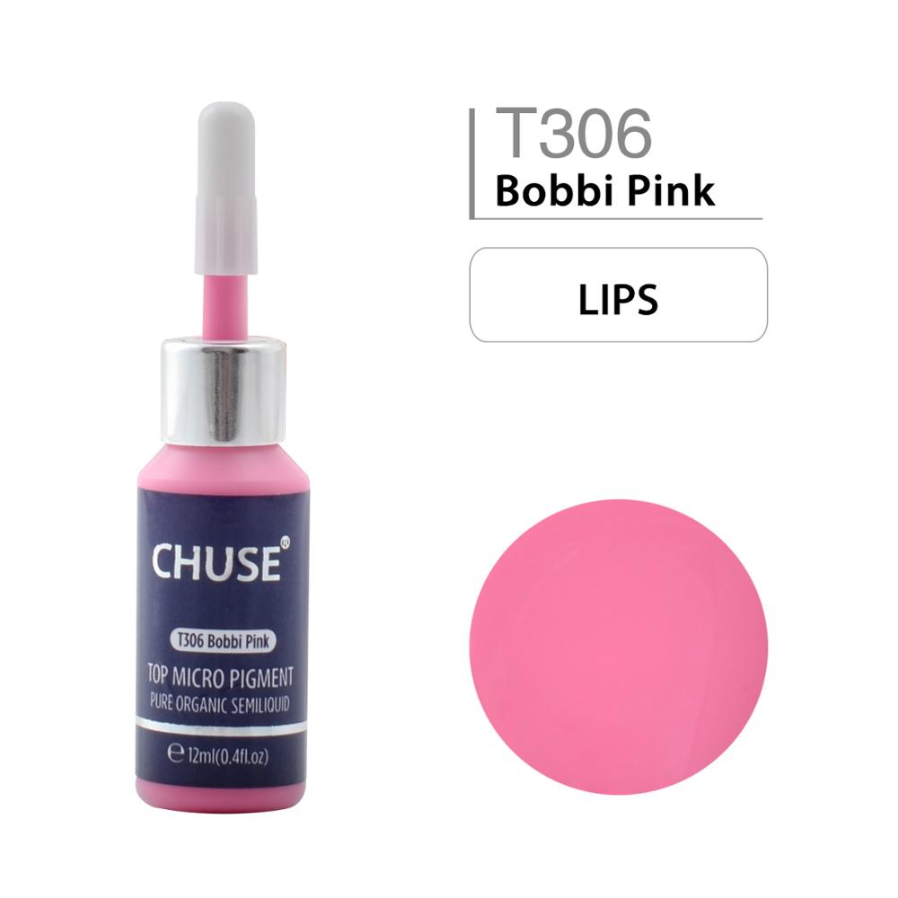 CHUSE Microblading Micro Pigment Permanent Makeup Tattoo Ink Cosmetic Color Passed SGS,DermaTest 12ml T306 Bobbi Pink inks цена 2017