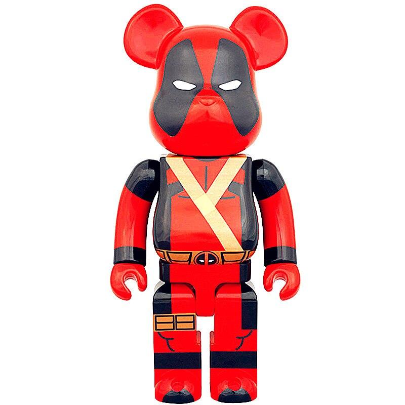 Оригинальный поддельные 400% быть @ rBrick X-Для мужчин Дэдпул игрушки куклы Гэри Мрачные медведь Брайан фигурку Медиком игрушки уличный Книги по...