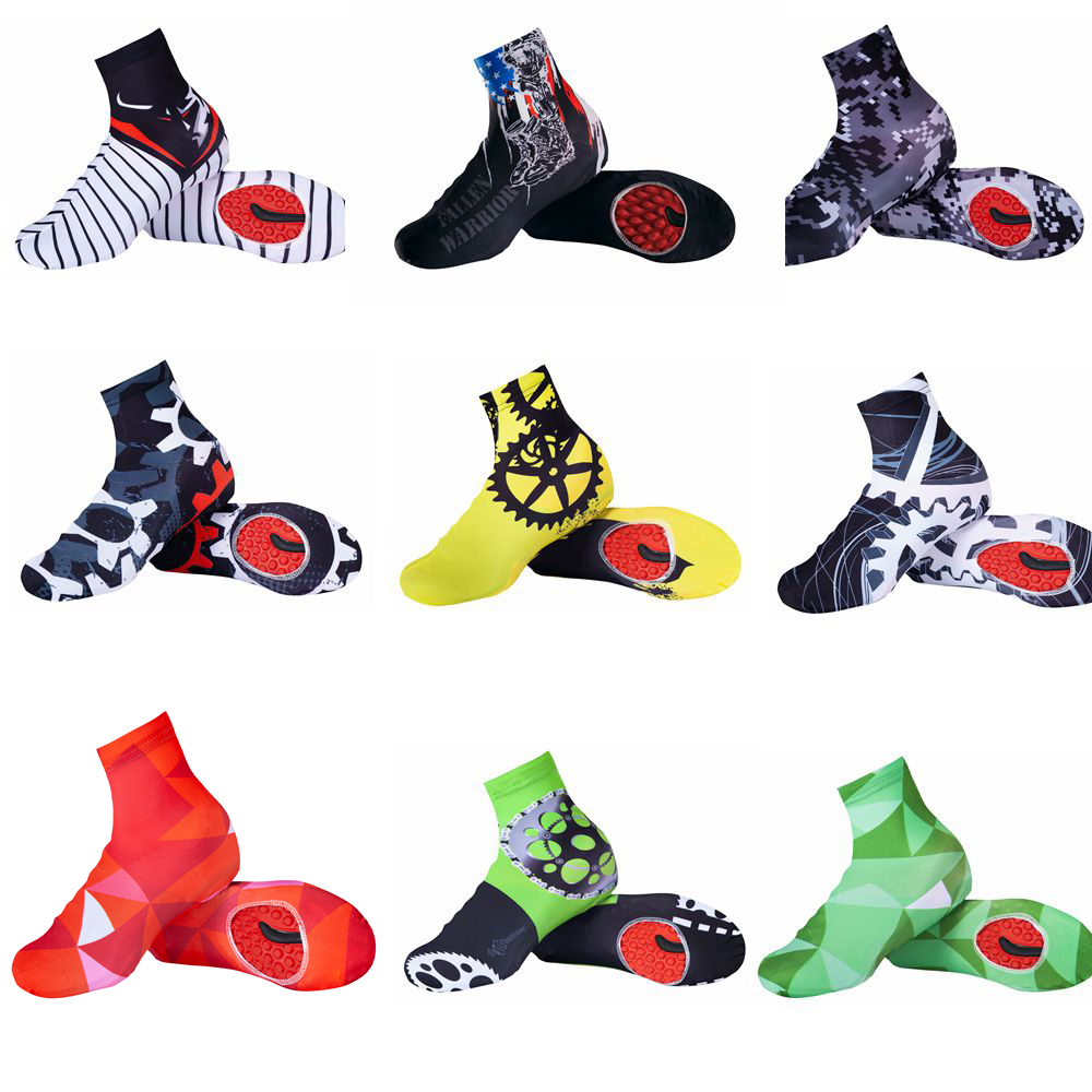 White Black Cycling Shoe Cover Men Women Bike Shoe Cover Windproof MTB Bicycle Zippered Overshoes Riding Quick Dry Outdoor Sport