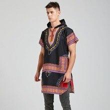 100% Cotton Unisex Dashiki Africa Clothing Print Loose Shirt Hoodies Traditional Hipster African T-shirt Tribal Ethnic Top open shoulder tribal print t shirt dress