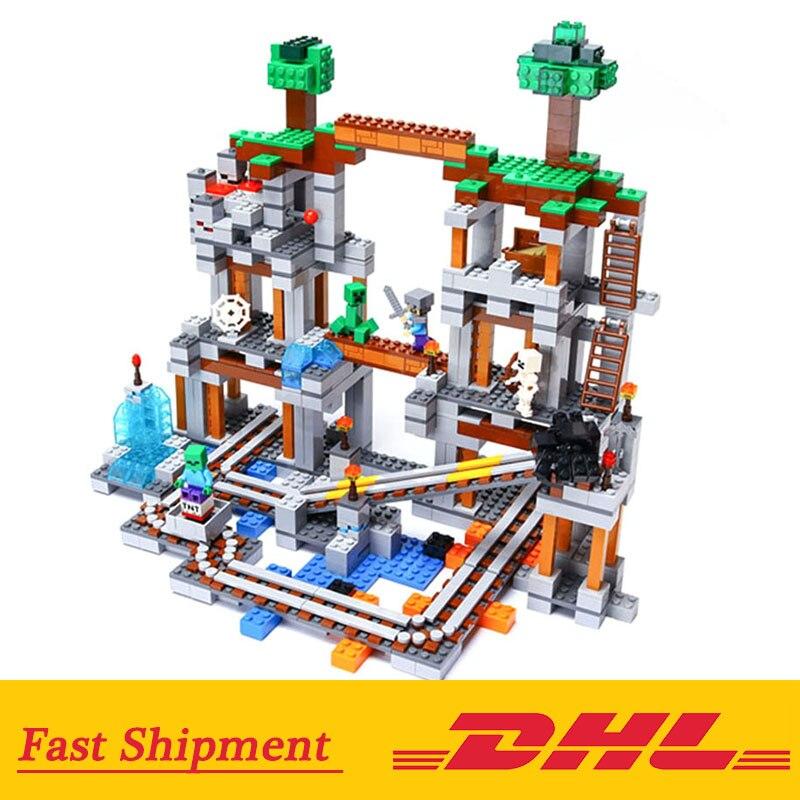 My World 18011 Minecrafted 922 PcsThe Mine Steve bricolage blocs de construction éducation jouet pour enfants cadeaux compatible Legoed 79074