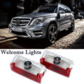 2 x LED Car Door Courtesy Laser Projector LED Logo Ghost Shadow Light For Benz x204 GLK W169 W168 W245 GLK260 300 350 Series