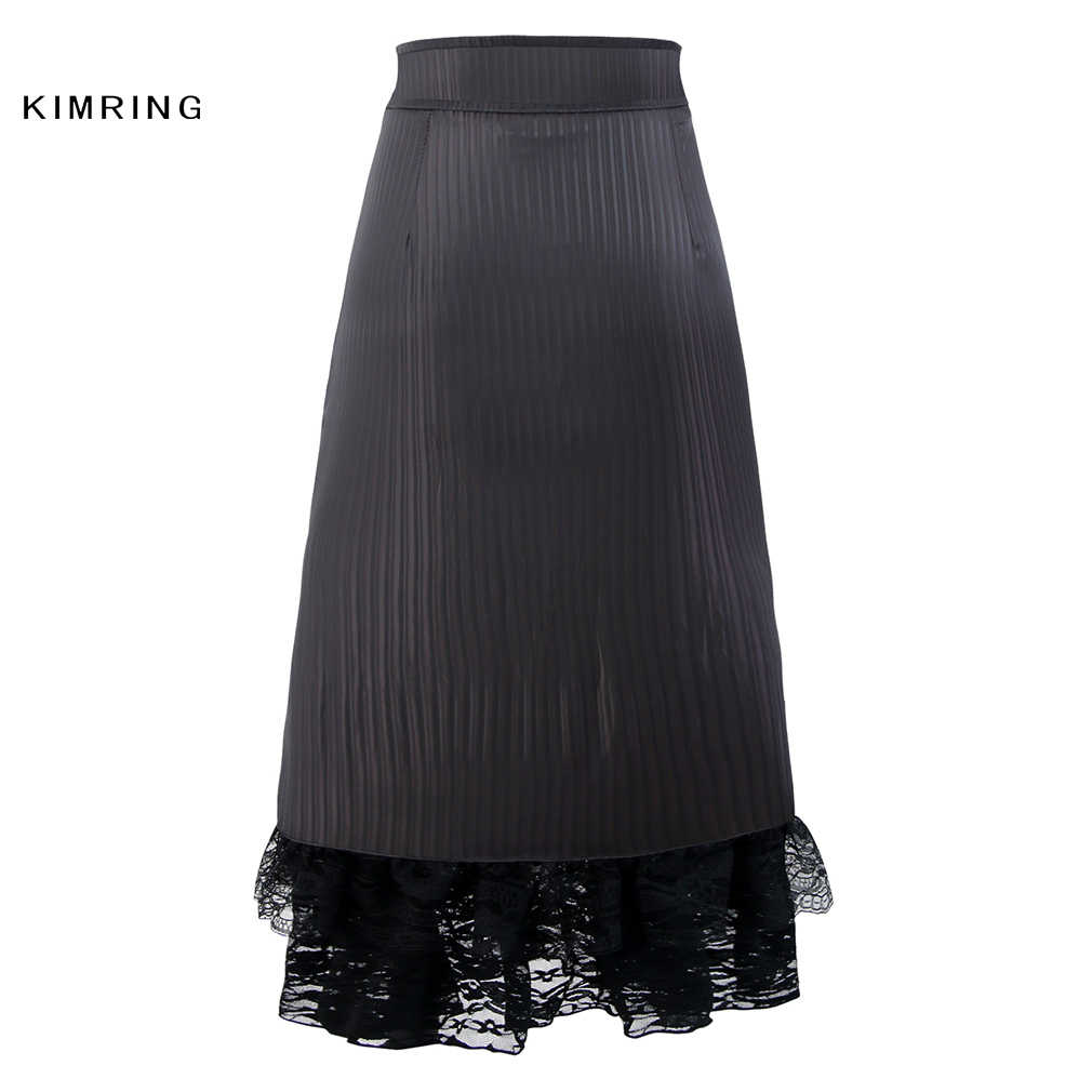 88db0064b ... Kimring Vintage Steampunk Skirt Fashion Lace Corset Skirt High Waist  Slim Corset Skirt Victorian Gothic Women ...