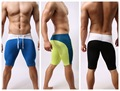 Men Underwear Cuecas Polyester Striped Boxers Calzoncillos 2016 New Fashion Explosion Models Brave Person Men's Fitness Pants