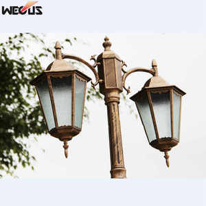 Image 5 - (H≈ 2.5 メートル) ヨーロッパ肥厚ランプポール 2 ダイキャストアルミガーデンライト屋外ガーデン道路照明照明