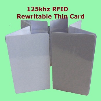 50pcs/Lot Proximity Access Control RFID 125khz Writable Rewritable T5577 5200 Smart  Cards Blank Thin ID Cards + Free Shipping free shipping rfid card thin size iso manchester 64 standard 125khz t5577 chip