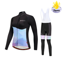 2018 Pro Team Winter Fleece Cycling Jersey Sets Bicycle Long Sleeve Clothes With Bib Pants Set Bike Sports Maillot Ropa Clothing