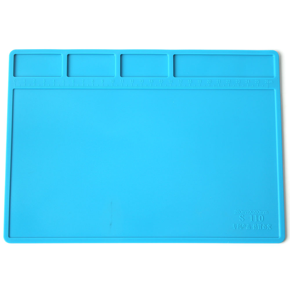 S-110 280mm X 200mm Insulation Pad Heat-Resistant Silicon Soldering Mat Work Pad Desk Platform Solder Rework Repair Tool Station