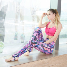 Yoga Pants Sports PAIYIGE Women fitness clothing Sport Trousers Running Tights Leggings Fitness Tights Colorful Butterflies