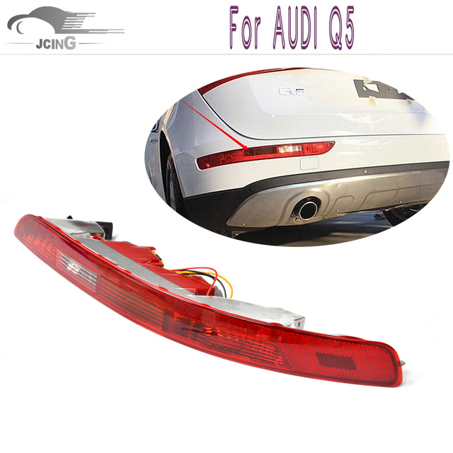 Q5 1 Pair ABS Rear Lower Bumper Tail Light Reverse Stop Fog TailLamp For AUDI Q5 09-12 OEM NO.:8R0945095 8R0945096