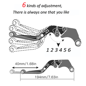 Image 5 - Cnc Aluminium Motorfiets Verstelbare Folding Uitschuifbare Rem Koppeling Hevels Accessoires Voor Honda CB1300/Abs Cb 1300 Abs 2003 2010