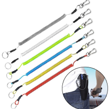 Портативный рыболовный шнур, пружинный эластичный трос, проволока, стальной, анти-потеря, брелок для телефона, безопасный замок, снасти, скалолазание, защитное снаряжение, инструмент
