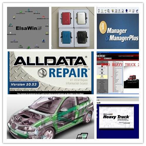 Alldata とミッチェルソフトウェア hdd 1 テラバイト alldata 10.53 + vivid ワークショップデータ + moto 大型トラック + 2019 vw アウディ elsawin ソフトウェア  グループ上の 自動車 &バイク からの ソフトウェア の中 1