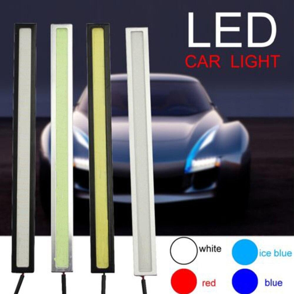 Белый/синий/голубой лед/красный 17 см полезные светодиодный удара автомобиль-Стайлинг DRL вождения дневного лампочка Туман лампа ...