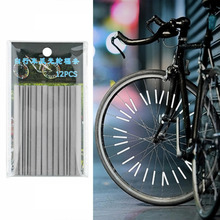 24pcs Bicycle Reflective Mount Clip Tube Warning Strip Bicycle bike Wheel Spoke Reflector mountain rear bike reflector light цена