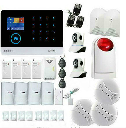 YoBang Security WIFI GSM GPRS RFID Home Office Burglar Alarm Surveillance Security System Wireless IP Camera Smoke Fire Sensor.