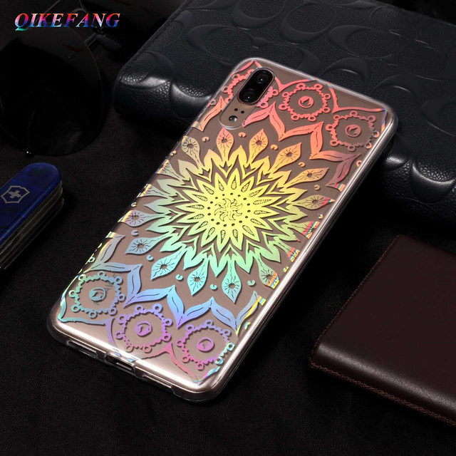 QIKEFANG Case For Huawei P20 Fashion Laser Shining Soft TPU Silicone Back Cover For Huawei P20 Lite Case Phone Cases Protective