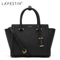 LAFESTIN Famous Handbags Women Designer Real Leather Bags Trapeze Shoulder Luxury Totes Multifunction Brands Bag Bolsa