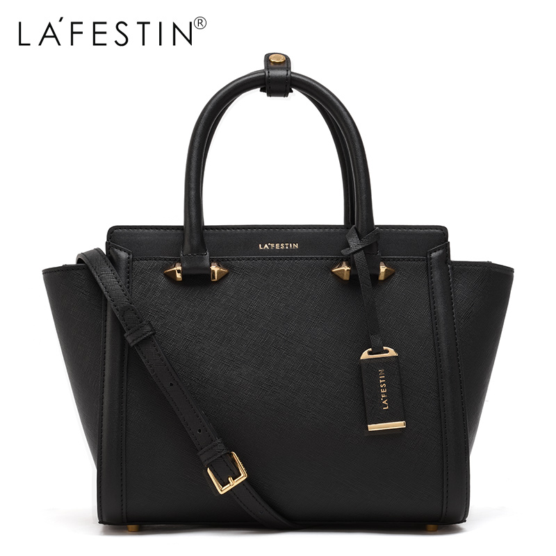LAFESTIN Famous Handbags Women Designer Real Leather bags Trapeze Shoulder Luxury Totes Multifunction brands Bag bolsa lafestin luxury shoulder women handbag genuine leather bag 2017 fashion designer totes bags brands women bag bolsa female