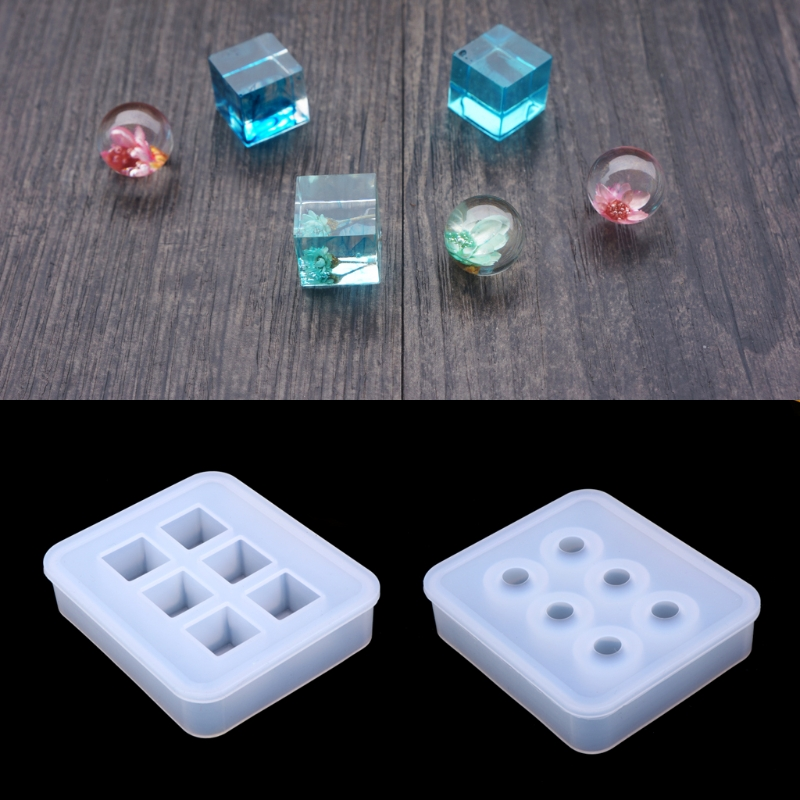 купить Silicone Pendant Mold Making Jewelry For Resin Necklace Mould Craft DIY Tool онлайн