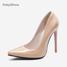 classical red bottom high heels women patent leather pumps 12cm nude stiletto designer formal dress shoes ladies pointed toe new designer black leather ankle wrap pumps women shoes pointed toe stiletto heels high heels pumps 12cm pink red ladies shoes