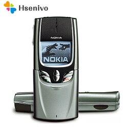 Мобильный телефон NOKIA, 8890 Оригинальный разблокированный GSM классический слайдер, 8890 телефон + аккумулятор + зарядное устройство, Восстановле...