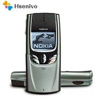 NOKIA мобильный телефон 8890 Оригинальный разблокированный gsm классический слайдер 8890 + батарея зарядное устройство Восстановленное Бесплатна