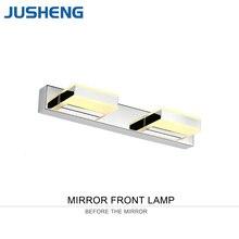 New Modern 2-lights LED Mirror Lamp 8W Bathroom Wall Lighting Fixture Stainless Steel Base Acylic Lights 32cm