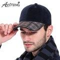 [AETRENDS] 2017 Cotton Baseball Cap Men German Design Retro Plaid Hat Snapback Caps Z-3031