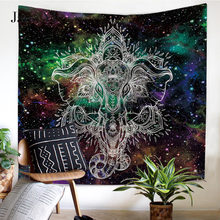 JaneYU Galaxy Hanging Wall Tapestry Hippie Retro Home Decor Yoga Beach Towel 150x130cm/150x200cm все цены