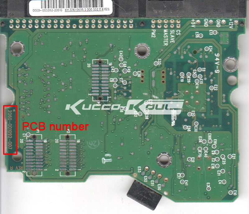 HDD PCB Logic Board 2060-001092-007 REV A For WD 3.5 IDE/PATA Hard Drive Repair Data Recovery