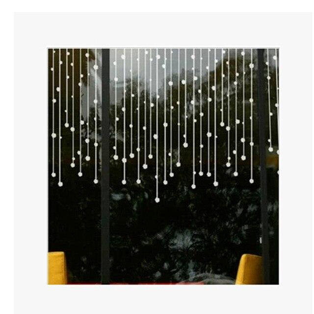 kralen gordijn muurstickers glas decoratie sticker interieur stickers badkamer raam deur stickers hot